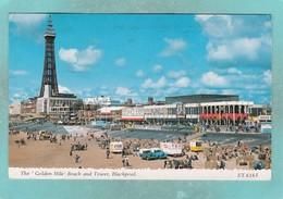 Small Postcard Of The Golden Mile,Blackpool,Lancashire.V111. - Blackpool