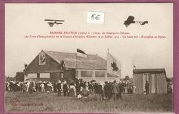 Cpa Brienne Aviation Les Fetes D'inauguration De La Station D'aviation Militaire - 27 Juillet 1913 Un Beau Vol Monoplan - France