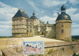 Carte Maximum  1er  Jour   FRANCE    Chateau  De  HAUTEFORT    1969 - Cartas Máxima