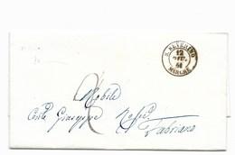DA SANSEVERINO A FABRIANO - 12.1.1861. - PORTO ASSEGNATO. - Italia