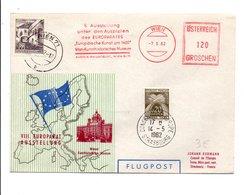 AUTRICHE LETTRE AVION DE VIENNE POUR LE CONSEIL DE L'EUROPE 1962 - Poststempel - Freistempel