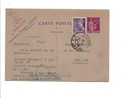 MAROC ENTIER DE RABAT POUR LA FRANCE 1940 - Marokko (1891-1956)