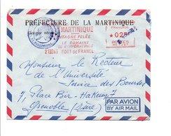 BELLE EMA DE FORT DE FRANCE MARTINIQUE 1963 - Freistempel