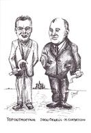 PK - Topontmoeting Sven Ornelis - Gorbatsjov 1993 - Knesselare - Uitgave Geert De Groote - Cartes Postales