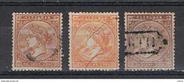ANTILLE  SPAGNOLE:  1869  ISABELLA  II°  -  3  VAL. US. -  YV/TELL. 31 + 32 + 33 - Antille