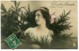 CPA - Carte Postale - Fantaisie - Jeune Femme - Bonne Année - 1911 (I9526) - Nouvel An