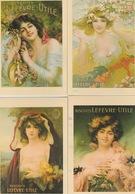 19 / 7 / 218. -  6  C P M   PUBLICITAIRES  ART. NOUVEAU   - JEUNES. FEMMES. ET. ENFANTS. - Advertising