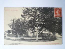 GP 2019 - 1896  FLOGNY  (Yonne)  :  Les Promenades   1918  XXXX - Flogny La Chapelle