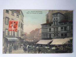 GP 2019 - 1899  SAINT-ETIENNE  (Loire)  :  Place Des Ursules , Le Samedi   1909  XXXX - Saint Etienne