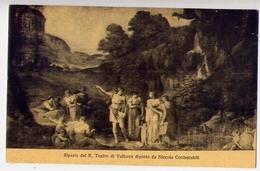 Sipario Del R.teatro Di Volterra Dipinto Da Niccola Contestabili - Formato Piccolo Non Viaggiata – E 13 - Cartoline