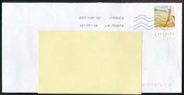 """2019 : Timbre Postal Adhésif """"Vacances, Plage, Pelle, Sable"""" Seul Sur Lettre - Marcophilie (Lettres)"""
