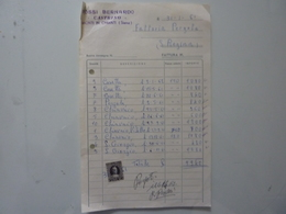 """Fattura """"ROSSI BERNARDO CASTRINO - MONTI IN CHIANTI ( Siena )"""" 1961 - Italia"""