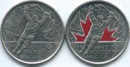 Canada - Elizabeth II - 25 Cents - 2009 - Winter Olympics - Men's Hockey Gold Medal (KMs 1063 & 1063a) - Canada