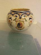 Petit Vase Boule Décor Rouen Manufacture Desvres Fourmaintraux- - Desvres (FRA)