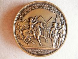 Médaille En Bronze NAPOLEON I. Bataille Des Pyramides 1798 Campagne D'Egypte. Collection Impériale - Autres