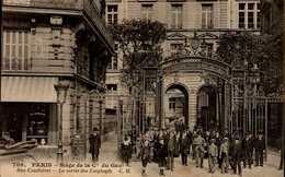 75-PARIS...SIEGE DE LA Cie DU GAZ...RUE CONDORCET...LA SORTIE DES EMPLOYES.....CPA ANIMEE - District 09
