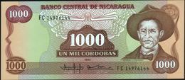 NICARAGUA - 1.000 Cordobas 1985 {series FC} UNC P.156 B - Nicaragua