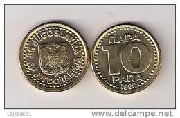 YUGOSLAVIA 10 PARA 1998. KM#173 High Grade - Yugoslavia