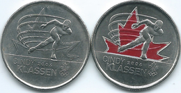 Canada - Elizabeth II - 25 Cents - 2009 - Winter Olympics - Speed Skater Cindy Klassen (KMs 1065 & 1065a) - Canada
