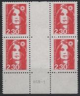 FR MAR 3 - FRANCE Bloc De 4 Interpanneau Mariannes Du Bicentenaire N° 2614 - 1989-96 Marianna Del Bicentenario