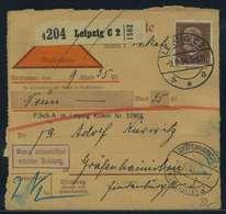 Paketkarte 1934 LEIPZIG Siehe Beschreibung (115167) - Deutschland