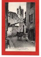 Cpa 06 CAGNES (env. Nice) - Montée Du Château Et L'Église Saint-Pierre - Cagnes-sur-Mer