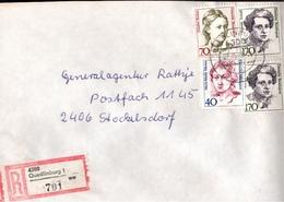 ! 7 Einschreiben 1992-93  Mit Alter Postleitzahl + DDR R-Zettel  Aus 4300 Quedlinburg, Dauerserie Frauen - [7] Federal Republic