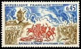 France N° 1679 ** Bataille De Valmy - Chevaux - France