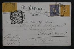 INDES NÉERLANDAISES - Affranchissement Plaisant De Jiandjoes Sur Carte Postale Pour Amsterdam En 1902 - L 36633 - Nederlands-Indië