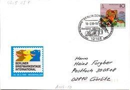 """BRD Amtlicher GZS-Umschlag USo 5AIY, Sonderstempelbeleg """"Rennsport"""" SSt BERLIN ZENTRUM, 18.2.1999 - Buste - Usati"""