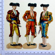 3 CHROMOS  DECOUPIS........ESPAGNE...CORRIDA..MATADOR - Victorian Die-cuts