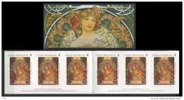 2010 Carnet  C564 Booklet De 6 Timbres Alfons MUCHA  Zodiaque ** MNH - Neufs