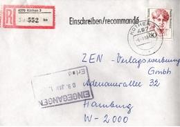 ! 1 Einschreiben 1992  Mit Alter Postleitzahl + DDR R-Zettel  Aus 4370 Köthen, Dauerserie Frauen - Briefe U. Dokumente