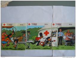 Sticker Autocollant 1998 3 Stuks Pièces Rode Kruis Croix Rouge Red Cross Strip BD NERO - Autocollants