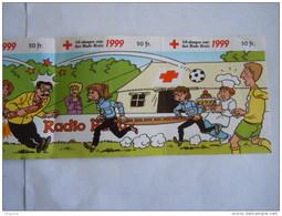 Sticker Autocollant 1999 Strook Van 4 Bande De 4 Rode Kruis Croix Rouge Red Cross Strip BD De Kampioenen Voetfbal - Autocollants