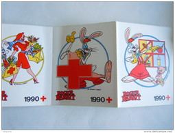 Sticker Autocollant 1990 Strook Van Bande De 5 Rode Kruis Croix Rouge Red Cross ROGER RABBIT - Autocollants
