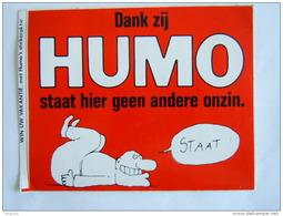 1983 Sticker Autocollant Humo  2 Stuks  Dank Zij Humo Staat Hier Geen Andere Onzin - Autocollants