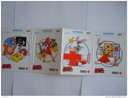 Sticker Autocollant 1990 Strook Van 4 Bande De Rode Kruis Croix Rouge Red Cross Roger Rabbit Disney Sabena - Autocollants