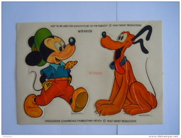 Sticker Autocollant Mickey & Pluto Disney Form. 17 X 12 Cm  Art Deco-Cals Italy - Autocollants