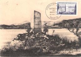 30f. NARVIK Sur Carte Maximum Oblitéré PARIS - 1921-1960: Moderne