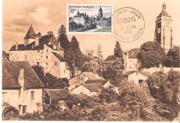 30f. ARBOIS Sur Carte Maximum Oblitéré ARBOIS JURA - Postmark Collection (Covers)
