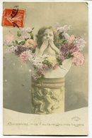 CPA - Carte Postale - Fantaisie - Enfant - Portrait D'un Jeune Enfant - Fleurs - 1912 (I9530) - Portraits