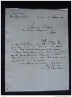 Nederland Steenbergen 1900 Van Loon & C° Beetwortelsuikerfabriek Brief - Niederlande