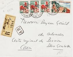 France , Du Bureau N°22, Poste Navale  En 1965 Recommandé ( Oran ) TB - Marcophilie (Lettres)