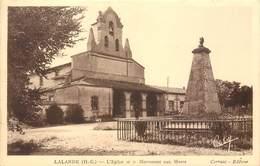 CPA 31 Haute Garonne Toulouse Quartier Lalande L'Eglise Et Le Monument Aux Morts - Toulouse
