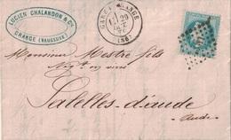 VAUCLUSE - GARE D'ORANGE - 29-10-1870 - EMPIRE N°29 - OBLITERATION LOSANGE AMBULANT LM2°. - Marcophilie (Lettres)
