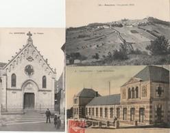 3 CPA:SANCERRE (18) LE TEMPLE,VUE,ÉCOLE MATERNELLE (TOILÉE)..ÉCRITES - Sancerre