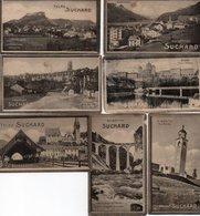 96Hs  Lot (N°1) De 6 Images Chocolat Marlieu Suisse Bremgarten Samaden Fribourg Noisettine St Moritz Velma - Publicités