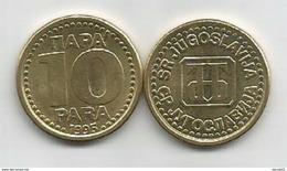 Yugoslavia 10 Para 1995.  KM#162.2 High Grade - Jugoslavia