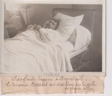 1912 SANGLANTE BAGARRE  ARGENTEUIL BROSSARD  BLESSE  CHEMIN DE FER 18*13CM Maurice-Louis BRANGER PARÍS (1874-1950) - Trenes